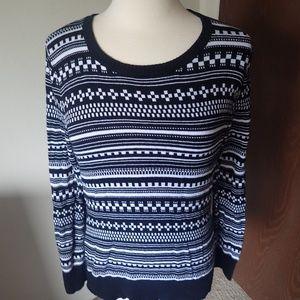 Merona Black & White Sweater